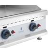 Grill gazowy podwójny gładki nastawny nierdzewny na gaz ziemny 2x 3.1 kW 0.02 bar 60 x 40 cm