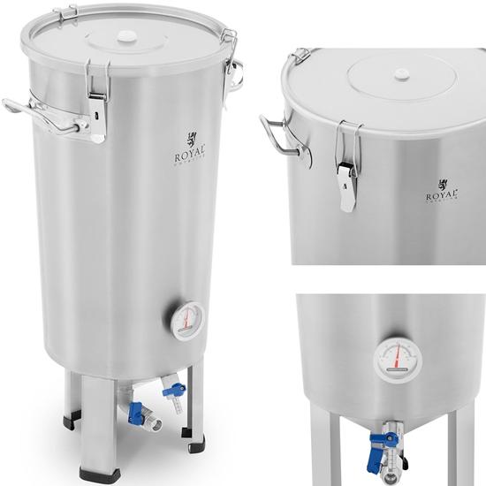 Pojemnik kocioł fermentacyjny fermentator do piwa ze stali nierdzewnej 20 l