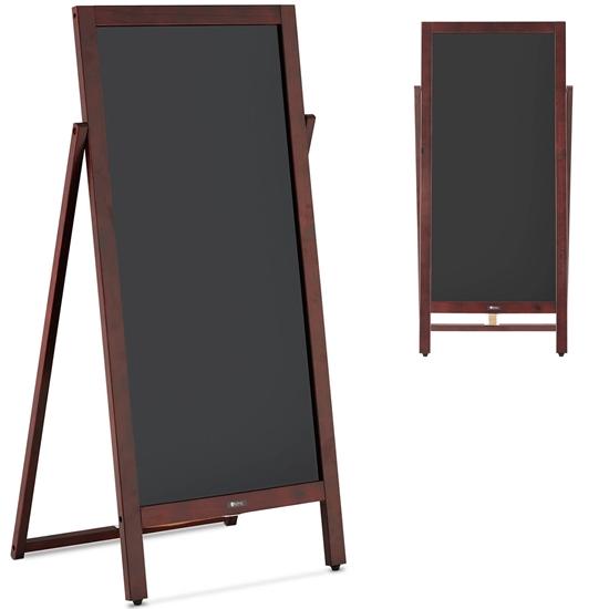 Stojak tablica potykacz reklamowy informacyjny magnetyczny z możliwością pisania 45 x 102.5 cm czarna