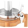 Dozownik dyspenser chłodzony do napojów soków lemoniad na drewnianej podstawie 7 l