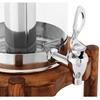Dozownik dyspenser do napojów soków z systemem chłodzenia na drewnianej podstawie 7 l