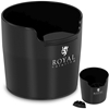 Odbijak pojemnik do kawy fusów kompaktowy czarny 1100 ml