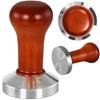 Tamper ubijak do kawy regulowany z drewnianym uchwytem śr. 58 mm