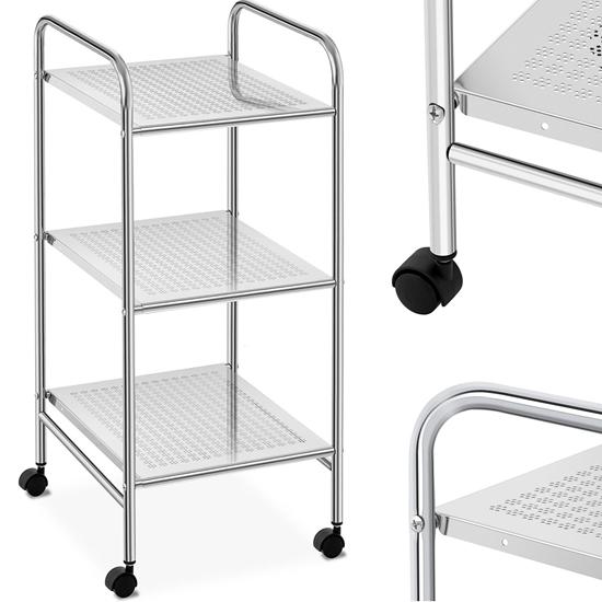 Wózek organizer pomocnik kosmetyczny łazienkowy mobilny 3 półki do 15 kg