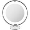 Lusterko lustro kosmetyczne do makijażu z oświetleniem powiększające 10x LED śr. 20.5 cm