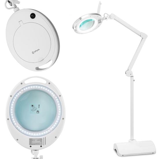 Lampa lupa kosmetyczna ze szkłem powiększającym na stojaku 5 dpi 60x LED śr. 127 mm