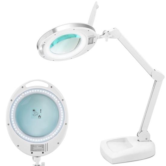 Lampa kosmetyczna z lupą szkłem powiększającym na biurko 5 dpi 60x LED śr. 127 mm