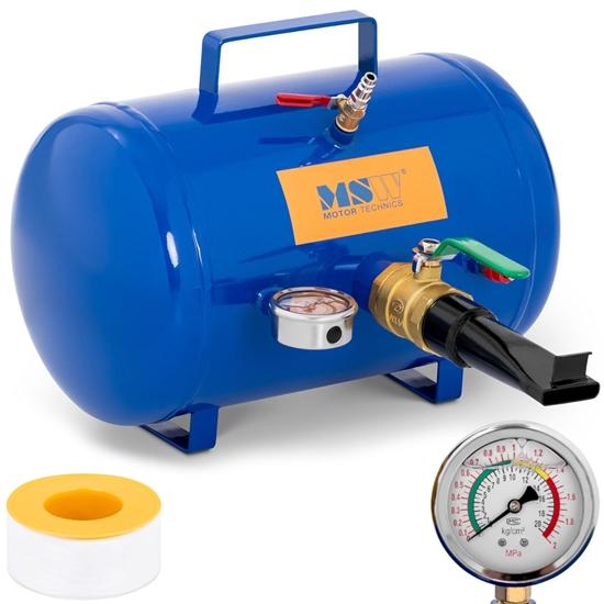 Inflator zbiornik ciśnieniowy do pompowania kół opon z manometrem 8 bar 19.5 l