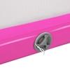 Mata materac ścieżka gimnastyczna akrobatyczna nadmuchiwana dł. 3 m różowo-szara