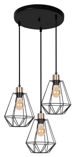 Lampa wisząca talerz czarna/patyna druciana Primo 33-00323