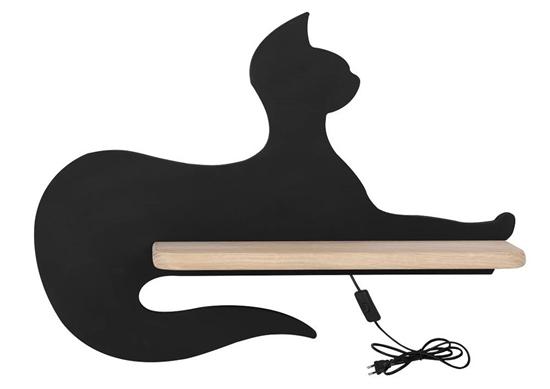 Lampa kinkiet ścienny 5W LED Cat Kids czarny z przewodem Candellux 21-26002