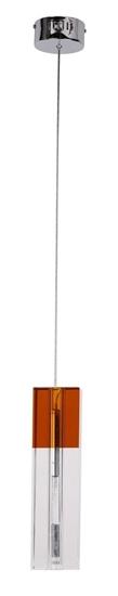 Lampa wisząca chrom kryształ kwadrat Lara 31-04065