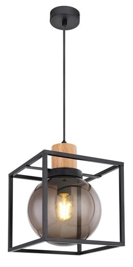 Lampa wisząca czarna metalowa dymiona Retro 2 31-00743