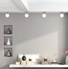 Lampa sufitowa biały klosz kula Oden 91-03195