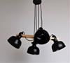 Lampa wisząca regulowana czarna 4x40W E27 klosz czarny loft Reno 34-78155