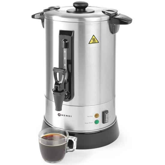 Zaparzacz perkolator do kawy i herbaty stal nierdzewna 950W 8,8L