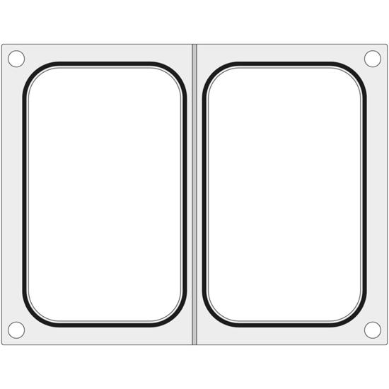 Matryca forma do zgrzewarki Duni DF10 na dwie tacki pojemniki 178x113 mm - Hendi 805794