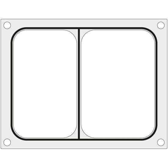 Matryca forma do zgrzewarki Duni DF10 na tackę dwudzielną 227x178 mm - Hendi 805800