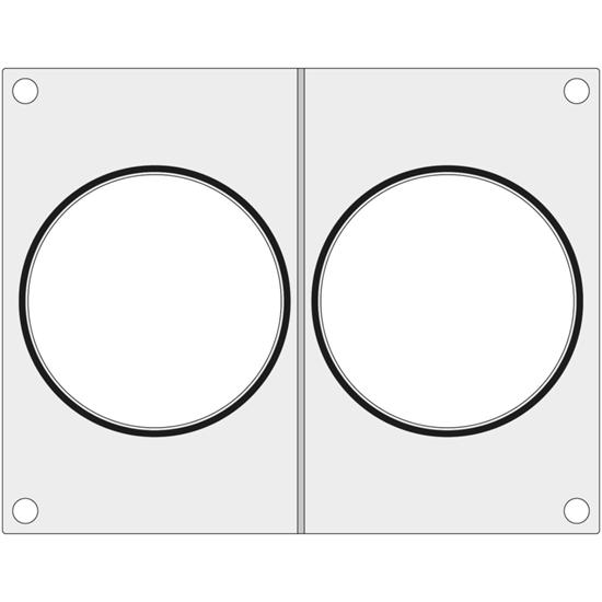 Matryca forma do zgrzewarki Duni DF10 na dwa pojemniki na zupę śr. 115 mm - Hendi 805831
