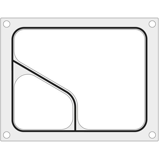 Matryca forma do zgrzewarki MANUPACK 190 na tackę dwudzielną COLT 227x178 mm - Hendi 805749