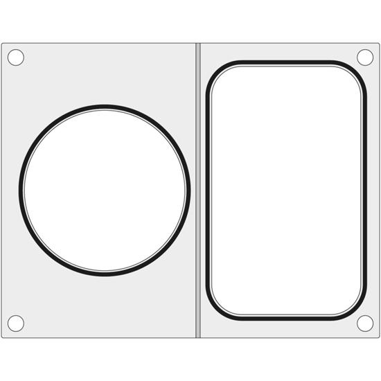 Matryca do zgrzewarki CAS CDS-01 na tackę bez podziału 178x113 mm + pojemnik śr. 115 mm - Hendi 805428