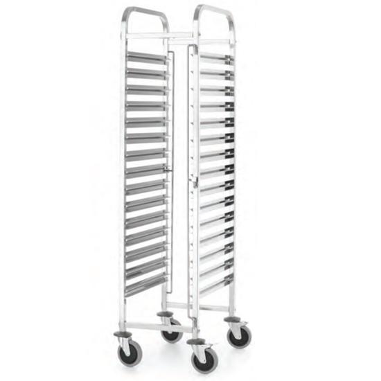 Wózek transportowy do przewozu pojemników gastronomicznych 15x GN1/1 Kitchen Line - Hendi 813270