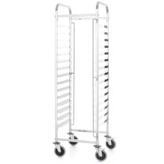 Wózek transportowy do przewozu blach gastronomicznych 15x 600x400 mm Kitchen Line - Hendi 813287