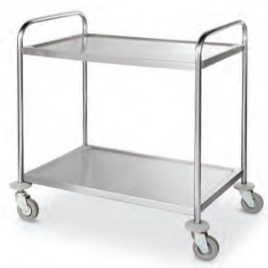 Wózek transportowy cateringowy mobilny 2 półki do 100 kg Kitchen Line - Hendi 813263