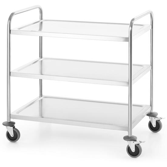 Wózek transportowy cateringowy mobilny 3 półki do 100 kg Kitchen Line - Hendi 813256