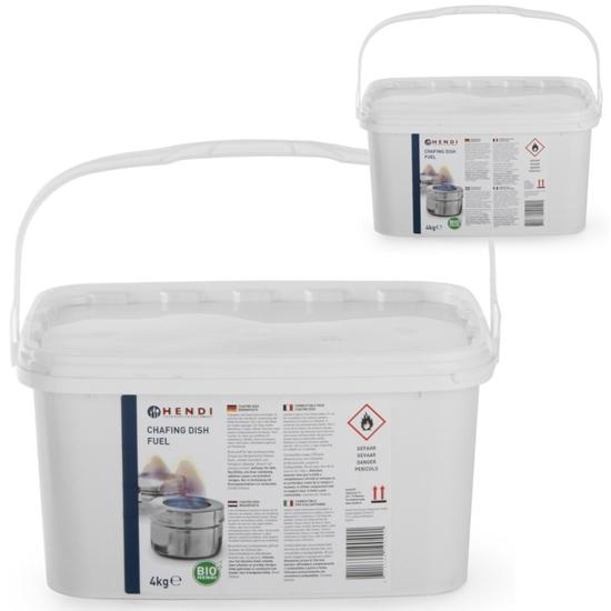 Pasta etanol do podgrzewaczy gastronomicznych - zestaw 2 x 4 kg - Hendi 190029