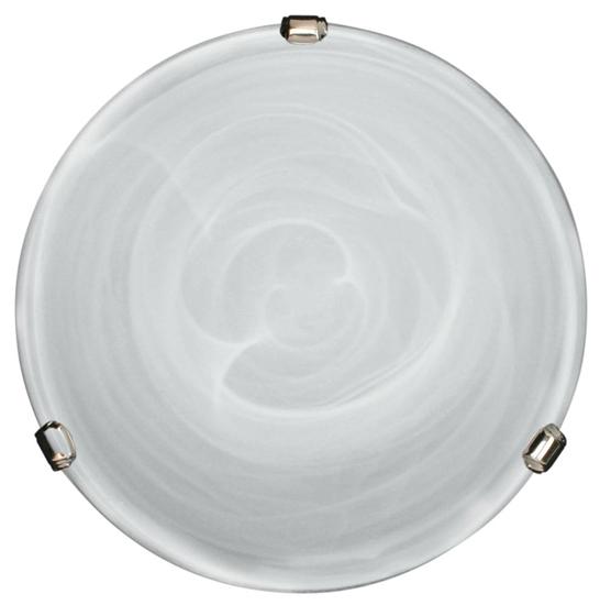 Klosz biały szklany okrągły do plafonu 40 Duna 64-21154