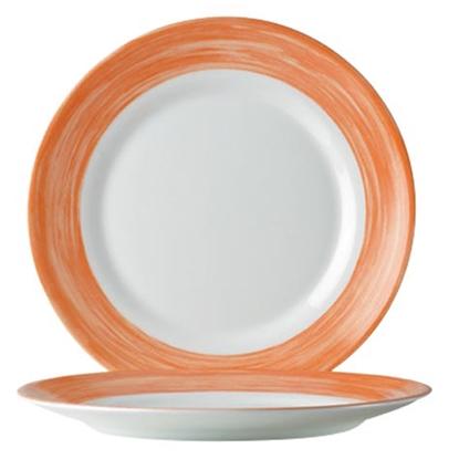 Talerze płytkie wytrzymałe pomarańczowe Brush śr. 235mm 6 szt. Hendi 49120