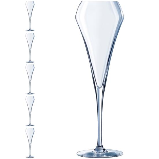 Kieliszek do szampana OPEN UP 200 ml zestaw 6 szt. - Hendi U1051