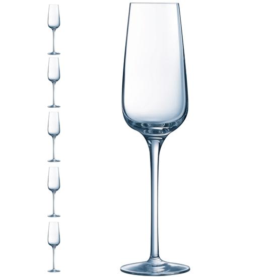Kieliszek lampka do szampana SUBLYM 210 ml zestaw 6 szt. - Hendi L2762