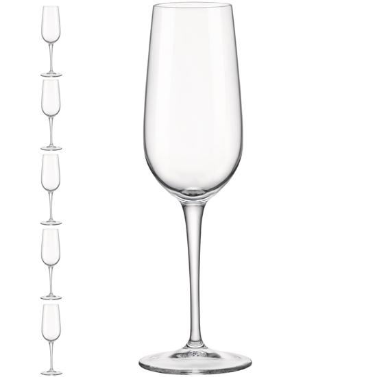 Kieliszek lampka do szampana INVENTA 190 ml zestaw 6 szt. - Hendi 779156