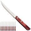 Nóż stołowy do pizzy steków nierdzewny HORECA zestaw 12 szt. dł. 215 mm czerwony