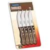 Zestaw noży do steków z drewnianym uchwytem Churrasco JUMBO 4 szt. dł. 255 mm