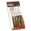 Zestaw sztućców nóż widelec stołowy do steków Churrasco JUMBO w blistrze 4 szt.