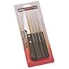 Nóż do steków ząbkowany nierdzewny Churrasco Spanish Style 6 szt. dł. 220 mm brązowy