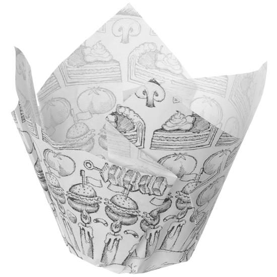 Koszyk torebka foremka na frytki przekąski pergaminowa z nadrukiem 150 szt. - Hendi 678190