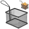 Koszyk do podawania smażonych przekąsek miniaturowy z uchwytem 125x100x85 mm - Hendi 425626