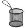 Koszyk do serwowania smażonych przekąsek frytek z uchwytem okrągły 90x90x90 mm - Hendi 425633