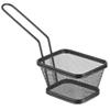 Koszyk do serwowania smażonych przekąsek frytek z uchwytem czarny 105x90x60 mm - Hendi 425671