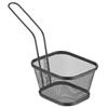Koszyk do serwowania smażonych przekąsek frytek z uchwytem czarny 130x115x80 mm - Hendi 425695