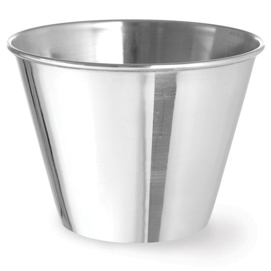 Miseczka ramekin naczynie do sosów dipów ze stali nierdzewnej śr. 100 mm 12 szt. 340 ml - Hendi 400067