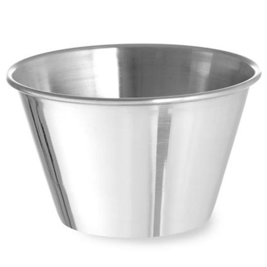 Miseczka ramekin naczynie do sosów dipów ze stali nierdzewnej śr. 85 mm 12 szt. 175 ml - Hendi 400043