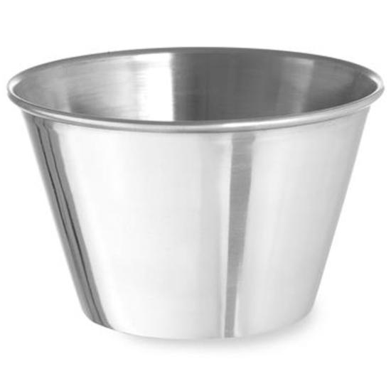 Miseczka ramekin naczynie do sosów dipów ze stali nierdzewnej śr. 93 mm 12 szt. 230 ml - Hendi 400050