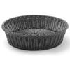 Kosz ekspozycyjny bufetowy na pieczywo okrągły czarny śr. 400 mm - Hendi 426982
