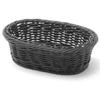 Koszyk na pieczywo owalny polipropylenowy czarny 190x120x60 mm - Hendi 426777
