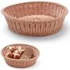 Kosz ekspozycyjny bufetowy na pieczywo okrągły brązowy śr. 400 mm - Hendi 426999